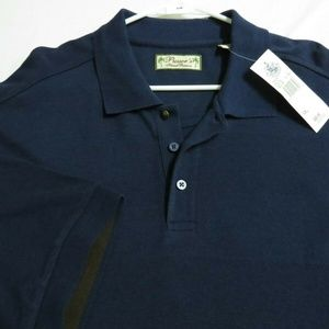 New 2XL Navy Blue Textured Pusser's Mens Polo